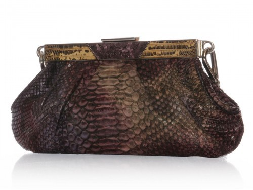 Prada very good (VG Iridescent Python Evening Bag