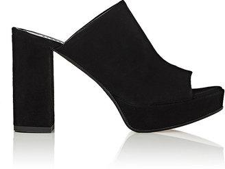Barneys New York Women's Suede Platform Mules $325 thestylecure.com