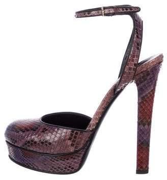 e9f1d11768 Gucci Python Platform High Heel Pumps