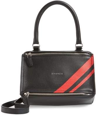 Givenchy Small Pandora Stripe Leather Satchel