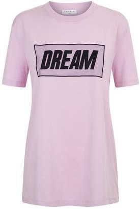 Sandro Embroidered Dream Slogan T Shirt