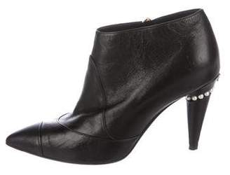 Chanel Leather Pointed-Toe Boots