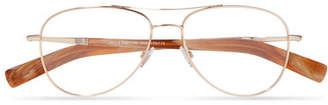 Tom Ford Aviator-style Rose Gold-tone Optical Glasses - Metallic