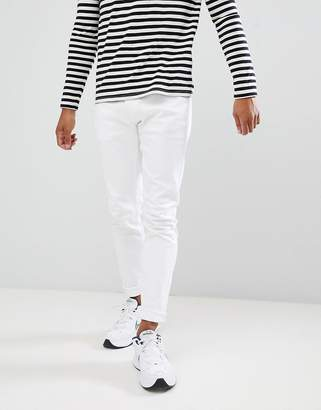 Pull&Bear Slim Fit Jeans In White