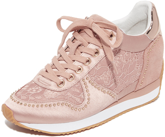 Ash Blush Wedge Sneakers $225 thestylecure.com