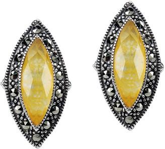 Suspicion Sterling Quartz Doublet & Marcasite Earrings