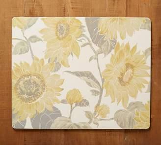 Pottery Barn Sunflower Print Cork Mat