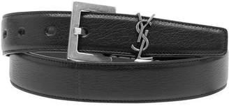 Saint Laurent Men's Lamb Leather Belt