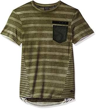 Buffalo David Bitton Men's Katto Short Sleeve Crew Neck Pocket T-Shirt