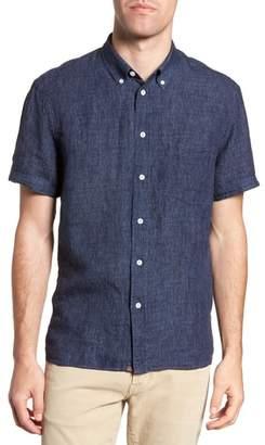 Billy Reid Leo Standard Fit Short Sleeve Sport Shirt