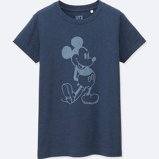 UNIQLO Women's Mickey Blue Short Sleeve Graphic T-Shirt $14.90 thestylecure.com