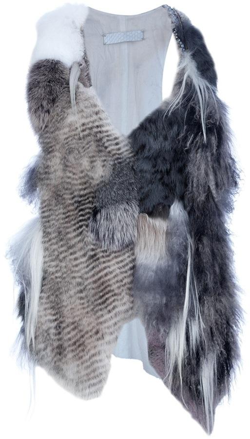 If Six Was Nine 'Ash' fur vest