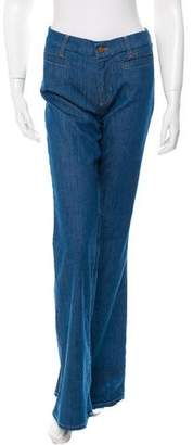 MiH Jeans Wide-Leg Low-Rise Jeans