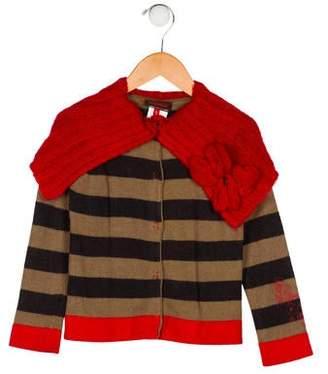 Catimini Girls' Stripe Cardigan