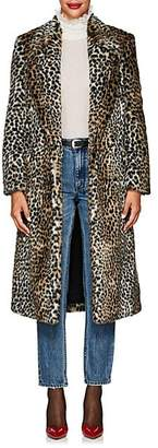 Philosophy di Lorenzo Serafini Women's Leopard-Print Faux-Fur Long Coat