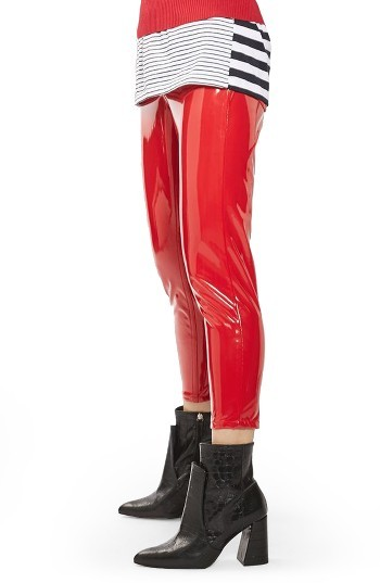 TopshopPetite Women's Topshop Jamie Vinyl Skinny Jeans