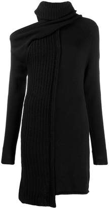 Patrizia Pepe knitted cold-shoulder dress