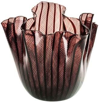 Venini Fazzoletto Reticello Glass Vase