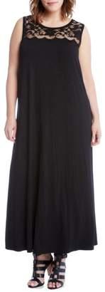 Karen Kane Lace Yoke Maxi Dress