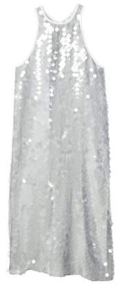 MANGO Sequined halter neck dress
