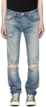 Unravel Blue Distressed Stretch Jeans