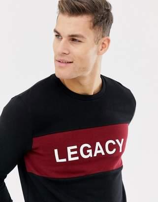 Burton Menswear Sweatshirt with Legacy Motif In Black