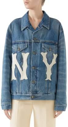 Gucci NY Patch Denim Jacket