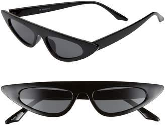 Cat Eye Glance Eyewear 50mm Flat Top Sunglasses