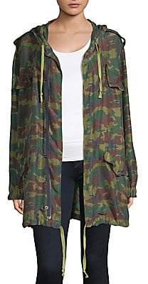 Faith Connexion Women's Camouflage Parka Jacket