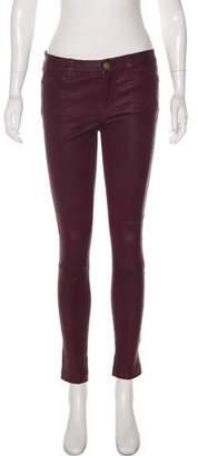Current/Elliott Leather Mid-Rise Pants