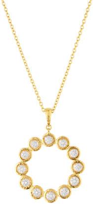 Gurhan Delicate Small Diamond Open-Circle Pendant Necklace