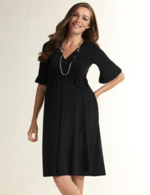 Maternity Ruffle Sleeve Dress by Olian