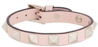 Valentino Rockstud Leather Bracelet - Womens - Light Pink