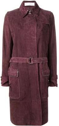 Victoria Victoria Beckham suede trench coat
