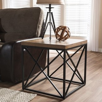 Baxton Studio Holden Industrial Antique Bronze and Metal End Table