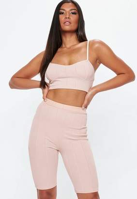 Missguided Pink Bandage Cupped Bralette