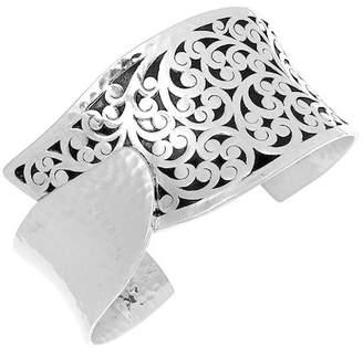 Lois Hill Sterling Silver Filigree Tulip Cuff Bracelet