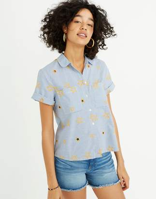 Madewell Star Embroidered Striped Shirt