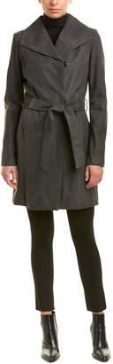 Elie Tahari Jacqueline Leather Coat