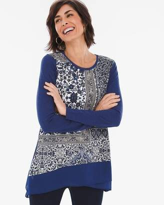 Chico's Chicos Cool Patchwork Tunic