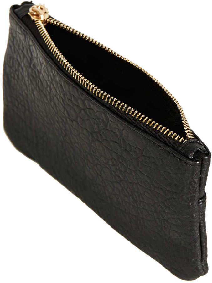 Topshop Merino Chain Zippy Purse