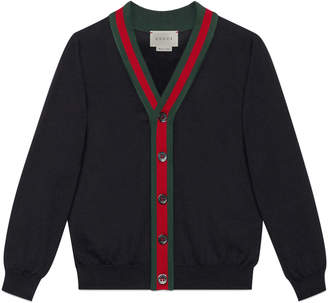 Children's cotton cardigan with Web $330 thestylecure.com