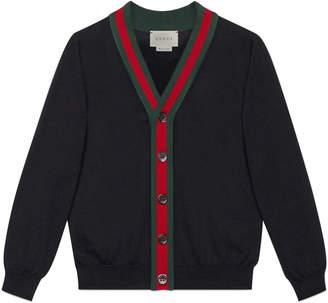 Children's cotton cardigan with Web $330 thestylecure.com