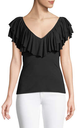 Rachel Pally Amber V-Neck Ruffle Top, Plus Size