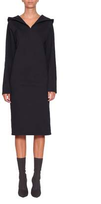 A Plan Application A plan application Navy Cotton Hooded Dress