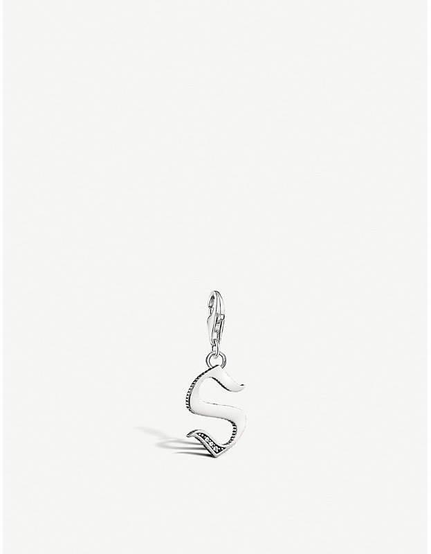 Vintage S letter sterling silver charm