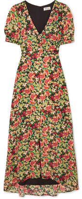 Paul & Joe Blondie Floral-print Crepe Maxi Dress - Yellow