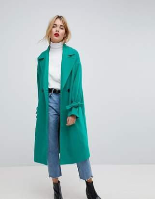 Vero Moda Coat With Sleeve Detail