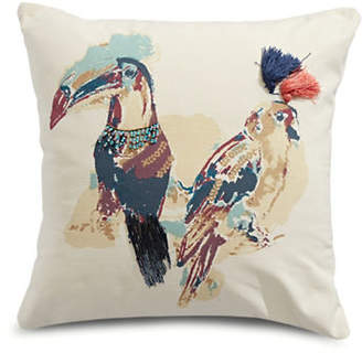 Martha Stewart Birds Decor Square Cushion