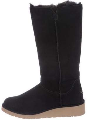 Koolaburra Suede Shearling-Lined Knee-High Boots